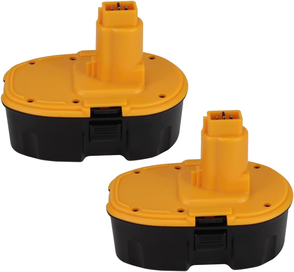Moticett 2 Pack 18V 3.0Ah Ni-Mh Replacement for Dewalt Battery DC9096 DE9039 DE9095 DE9096 DE9098 DW9096 DW9095 DW9098 Cordless Power Tool