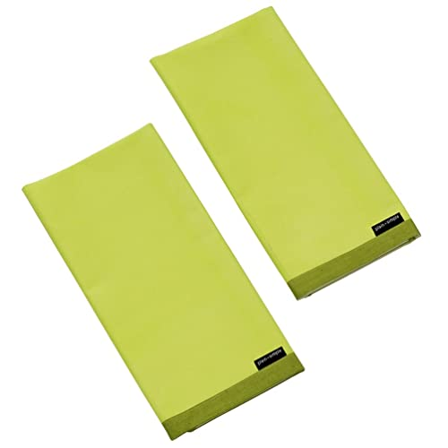 Plain And Simple Kitchen Textile Range Lime Punch Pack Of 2 Tea Towels - 18in x 25in each (45cm x 65cm)Approx