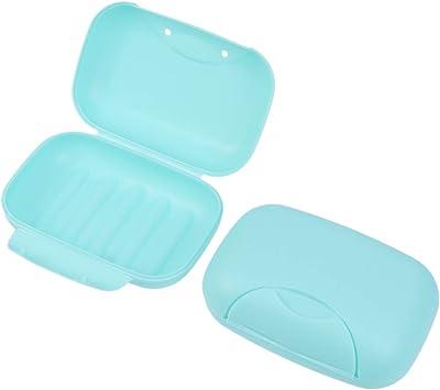 SUPVOX 2 piezas caja de jabón de viaje contenedor de jabón contenedor senderismo senderismo camping viaje: Amazon.es: Salud y cuidado personal