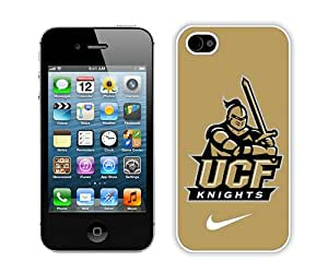 Beautiful iPhone 4 4S Case ,Unique And Lovely Designed With ucf knights 01 White iPhone 4 4S Phone Case