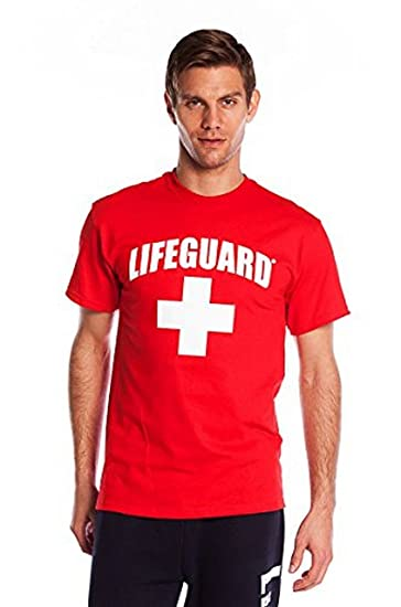 5f18aa99fd6a Image Unavailable. Image not available for. Color  NY Popular Lifeguard T-Shirt  Official Licensed Life Guard Tee Red Small