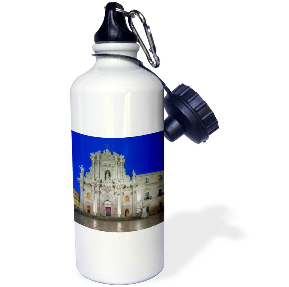 3dRose Danita Delimont - Churches - Italy, Sicily, Syracuse. Syracuse Cathedral at dawn - 21 oz Sports Water Bottle (wb_277646_1)