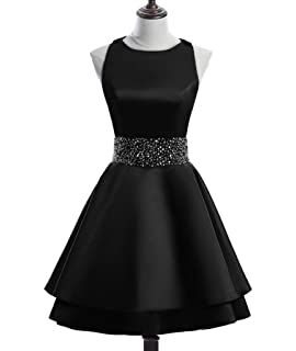 Junior s Off The Shoulder Homecoming Dress Beaded Satin Prom Dresses ... e712a7448