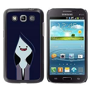 TopCaseStore / la caja del caucho duro de la cubierta de protección de la piel - Vampire Navy Blue Face - Samsung Galaxy Win I8550 I8552 Grand Quattro