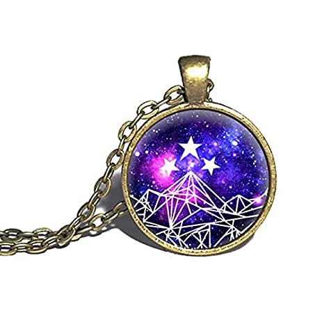 Amazon Night Court Purple Galaxy Necklace Jewelry Bracelet