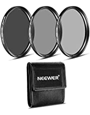 Neewer® 77mm Filtro ND Set (ND2ND4ND8) + paño de Limpieza de Microfibra para el Canon EF 24–105mm f/4L IS USM Zoom Lentes, la Nikon 28–300mm f/3,5–5,6G ED VR II AF-S Lente de Zoom