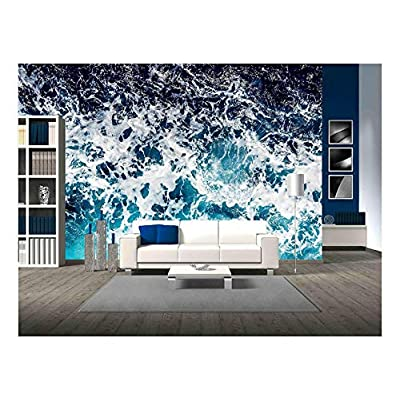 Charming Design, Areal Shot of Deep Blue and Rough Sea with Lot of Sea Spray, Made For You