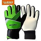 Green 7# Children Kids Youth Football Soccer Goalkeeper Goalie Training Gloves Gear