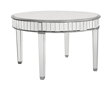 Elegant Decor MF6-1008S Round Dining Table, Silver