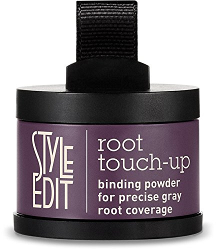 Style Edit Root Touch Up Brunette Beauty | Root Coverage Concealer | Grey Coverage | Press Powder Hair Color (Black)