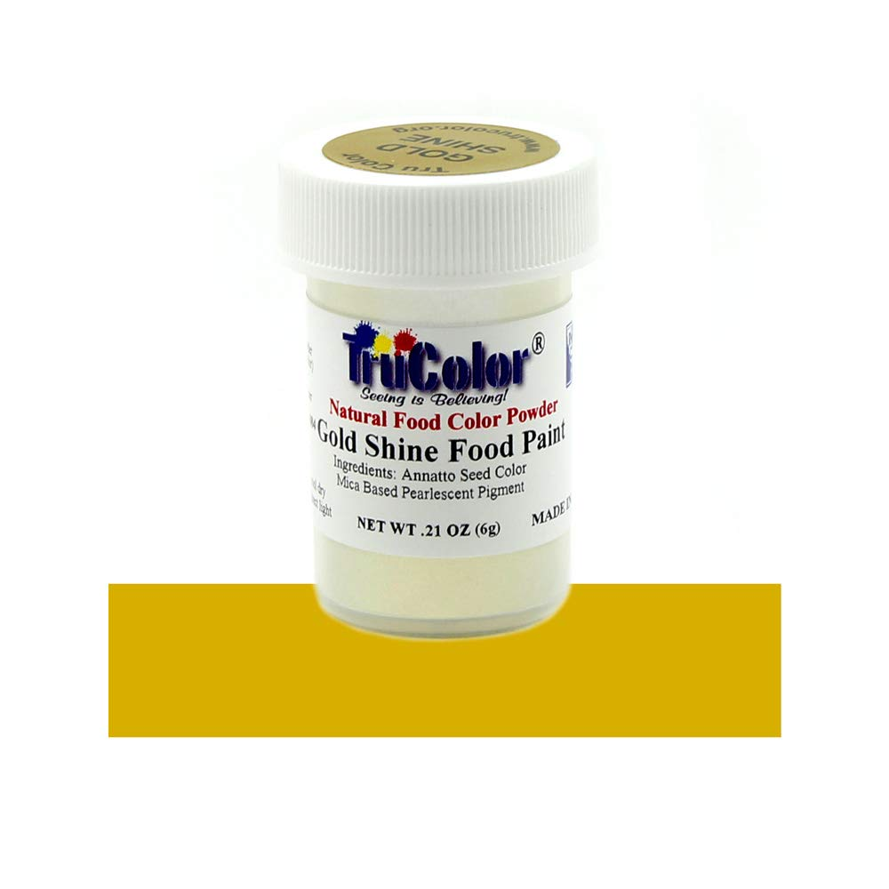 TruColor Gold Shine Natural Food-Coloring Powder Paint, 6 Grams