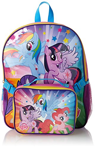 FAB Starpoint Little Girls'  My Little Pony Backpack with Lunch Kit, Multi, One Size