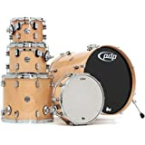 Pacific Drums & Percussion PDCM2215NA Concept Maple 5-Piece Drum Shell Pack with Chrome Hardware, Natural