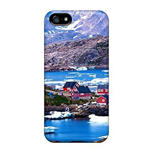 Fashion Cases For Iphone 5/5s- Beautiful Colorful Village Of Kulusuk Greenl Defender Cases Covers
