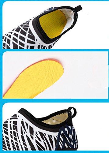 Eco-daily Wasserschuhe Mens Beach Swim Womens Schuhe Aqua Socken Pool Schuhe für Surf Yoga Wasser Aerobic Barfuß Frauen Rutschfeste Tauchschuhe Gelb Blau
