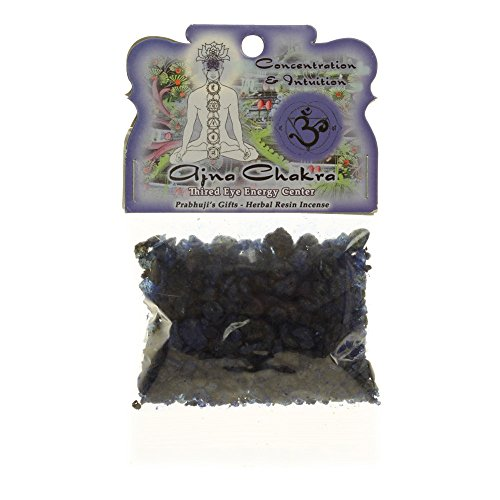 Resin Incense Third Eye Chakra Ajna - Concentration and Intuition - 1.2oz bag