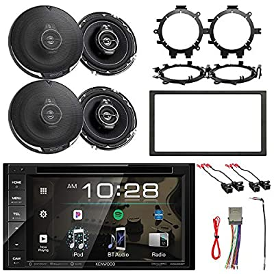 "Kenwood In-Dash Sirius/MP3/WMA DVD Bluetooth Stereo, 4x 6.5"" 3-Way Speakers, 4x Speaker Harness, 4x Speaker Mounting Brackets, Dash Kit, Stereo Harness, Antenna Adapter (Select 2000-2008 Vehicle)"