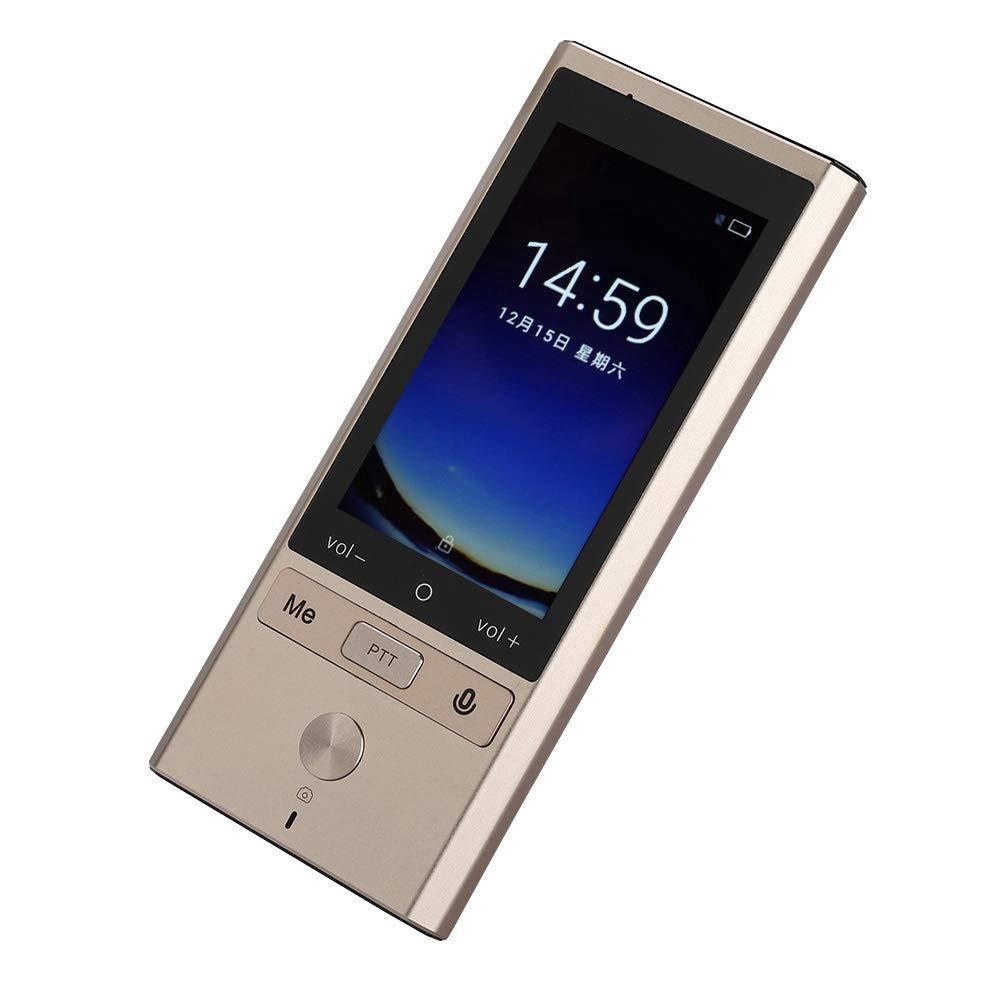 翻訳機 携帯型音声翻訳機ポケトーク 写真翻訳 軽量 世界72種類の言語 操作簡単 小型 瞬間双方向 携帯便利 留学 海外旅行などに適用 金色 B07MZ6ZHBV