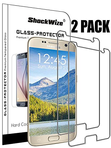 ShockWize [2 Pack] [Tempered Glass] .3mm Thin Ballistic Premium Real Glass Screen for Samsung Galaxy S9+ [NOT S9], Clear