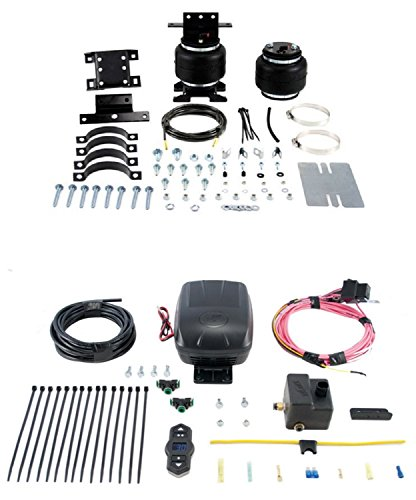 Air Lift 88105/25870 Set of Rear Load Lifter 5000 Ultimate Series w/Wireless One Single Path On-Board Air Compressor System Kit for G25/G35/B100/B200/B300/B150/B250/B350/G20/G30