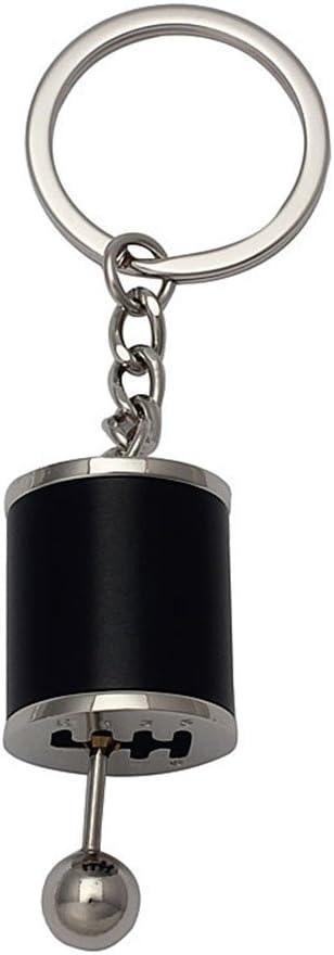 schwarz Lumanuby Schl/üsselanh/änger aus Metalllegierung 7*2.5cm Design: Auto-Gangschaltung mit Schalthebel- und knopf Legierung geeignet als Festival-Geschenkidee f/ür Familie und Freund 1 St/ück