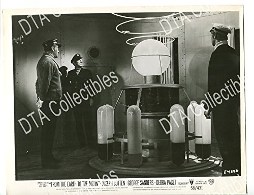 MOVIE PHOTO: FROM THE EARTH TO THE MOON-1958-8 X 10-STILL-FN-SCI-FI-COTTEN-SANDERS-DUBBINS FN