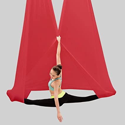 Amazon.com: DLT 5mx2.8m Stretchy Nylon Yoga Hammock ...