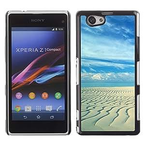 """For Xperia Z1 Compact D5503 , S-type Playa de arena"""" - Arte & diseño plástico duro Fundas Cover Cubre Hard Case Cover"""