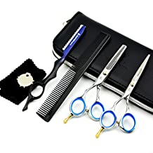 HUNTERrapoo 5.5 inch Left Hand Using Barber Cutting Scissors Set for Hairdressing,razor Cutting Scissor & Thinning Shear