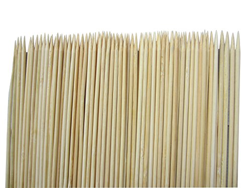 Bamboo Skewers 12 Inch-LeBeila Natural Bamboo Kabob Skewers Smooth Marshmallow Roasting Sticks BBQ Skewers For Barbecue/ Grilling, Skewer, Shish Kebab/Kabobs & Appetizers (100, 12 Inch)
