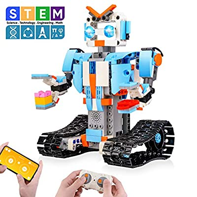Sillbird STEM Building Blocks Robot - Remote Control Engineering Science Educational Building Toys Kits for 8,9-14 Year Old Boys and Girls