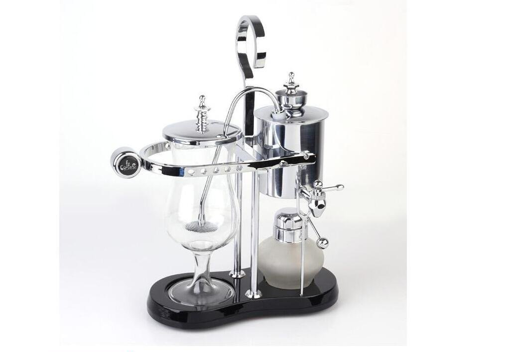 5 copias-Máquina de café casera de la cafetera belga real clásica - plata , silver: Amazon.es: Hogar