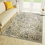 neutral living room decor Transitonal Neutral Vintage Distressed Border Rugs 8x10 Living Room Trendy Carpet, 7-Feet 10-Inch by 9-Feet 10-Inch