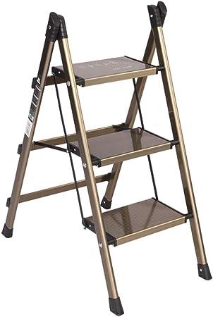 CAIJUN Taburete De Escalera Aleación De Aluminio Plegable Multifunción Diseño De Barandilla Conjunto Entero Espesar Alpinismo, Escalera De 2, 3 Escalones Doble Uso: Amazon.es: Hogar