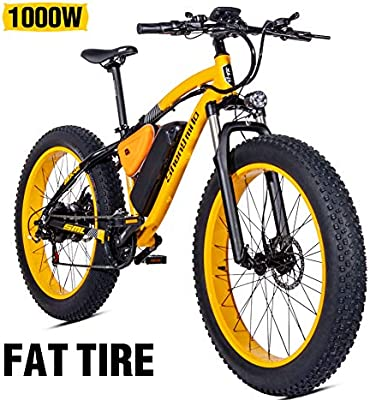 Shengmilo 1000W Motor Eléctricas,26 Pulgadas Mountain E-Bike ...