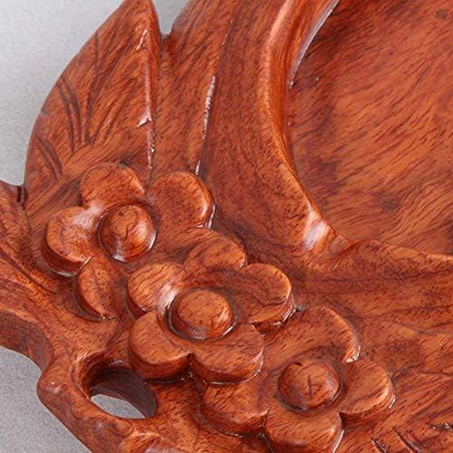 葉巻灰皿, 灰皿、ヴィンテージの彫刻古いマホガニークラフトギフト、デスクトップ装飾コーヒーテーブルコーヒーテーブル灰皿