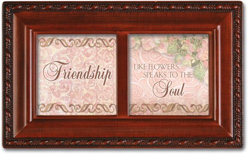 Cottage Garden Friendship Petite Woodgrain Music Box Plays Friends are for