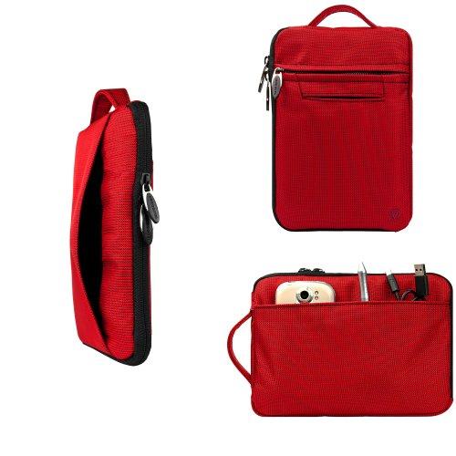 Samsung Galaxy Tab 7.0 Plus Accessories VanGoddy Hydei (Crimson) Padded Zippered Sleeve Carrying Case for for the Newest Samsung Galaxy Tab 7.0 Plus 16 GB Tablet (SPH-P100, SCH-I800, GT-P1010/W16, SGH-T849, SCH-I987, GT-P6210)