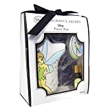 Japan Disney Official Peter Pan - Tinker Bell Fresh Scents Scented Sachet Gift Basket Set with Plates Natural Fragrance Spice for Pillow Drawer Closet Car Bags Pouches Jewelry Wedding Favor Party Box