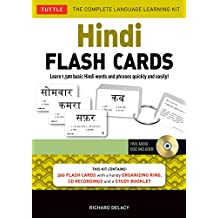 Hindi Flash Cards Kit: Learn 1,500 basic Hindi words and phrases quickly and easily! (Audio CD Included)