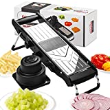 [Upgraded] Mandoline Slicer - Stainless Steel V-Blades Adjustable Thickness,Vegetable Slicer Food Slicer Dicer