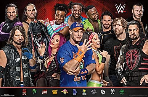 Trends International WWE-Group 17 Mount Bundle Wall Poster 22.375