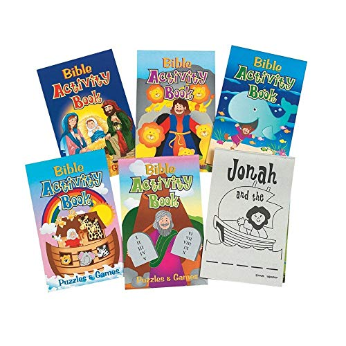 Fun Express - Bible Activity Pads - 48pg - Stationery - Activity Books - Activity Books - 12 Pieces