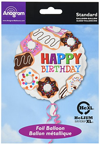 Anagram International Hx Donuts Happy Birthday Balloon, Multicolor