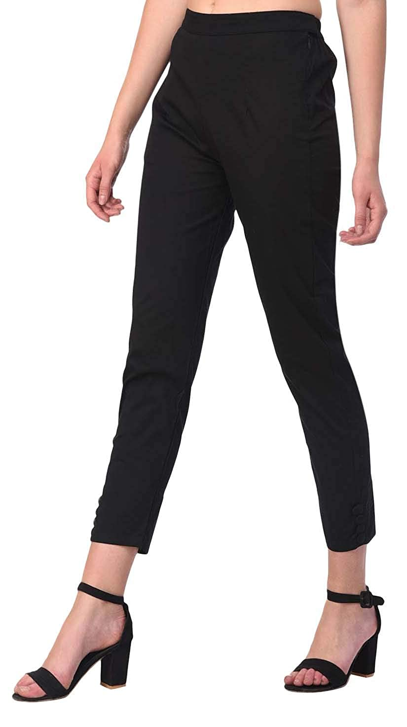 Buy Fashionyet Cotton Lycra Casual Cigarette Pants Trousers For Women Combo At Amazon In