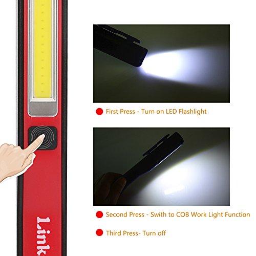 Lampe de travail LED inspection COB USB Stylo Magnétique Clip Torche Super