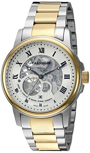 Thomas Earnshaw Men's 'Beagle' Swiss Automatic Stainless Steel Dress Watch, Color:Two Tone (Model: ES-0029-22)