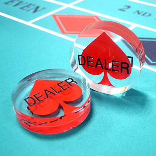 Acrylic 3'' Poker Dealer Button