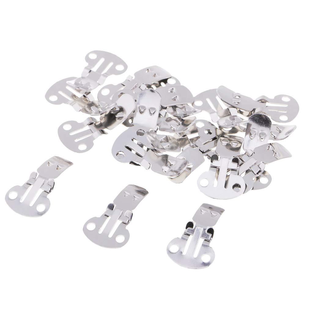 B Baosity Clips M/étalliques Boutons Perles Accessoire INOX pour Chaussure Sac /à Main Gros