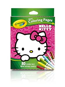 Amazoncom Crayola Hello Kitty Mini Coloring Pages No Toys Games